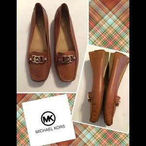Michael Kors brown Leather flats size 10